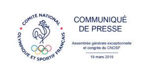 AG exceptionnelle et congrès du CNOSF